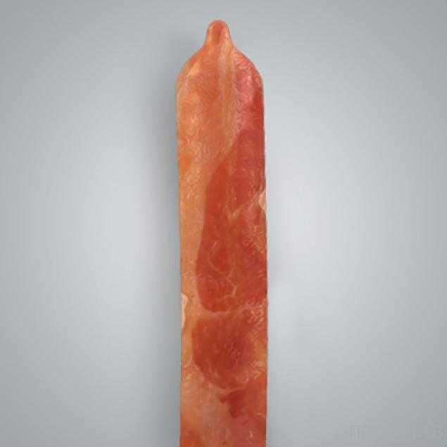В США изготовили презервативы со вкусом бекона... (3 фото)