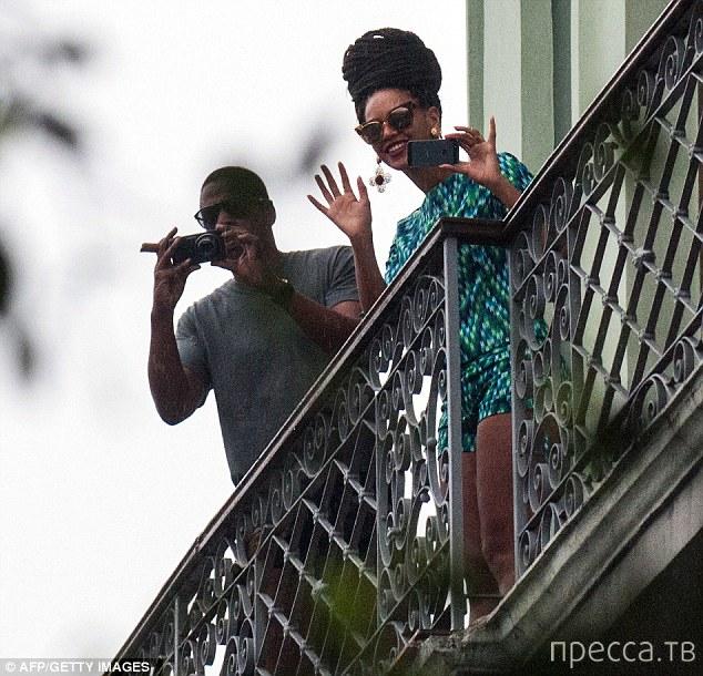 Бейонсе и Джей-Зи на Кубе (7 фото)