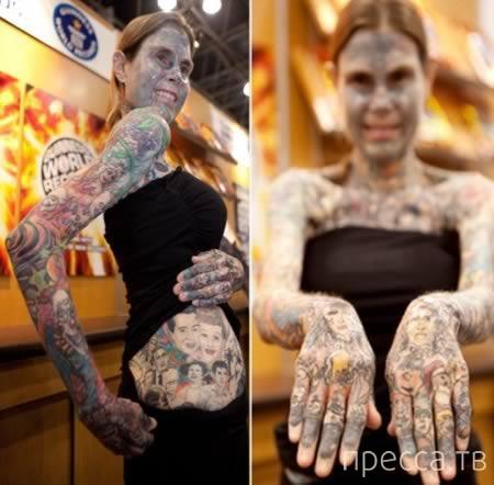 Татуировки, чтобы прикрыть деффекты кожи (11 фото)