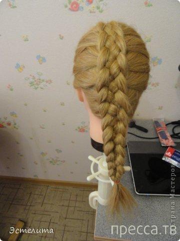 Домашний креативчик: Мастер-класс по плетению косы из пяти прядей (14 фото)