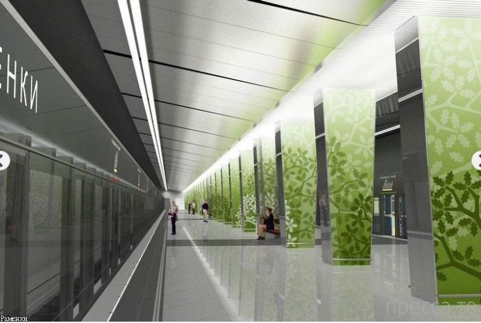 Проекты дизайна некоторых новых станций Московского метро (35 фото)