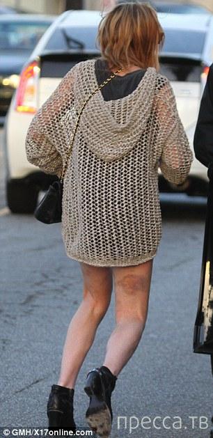 У  Линдси Лохан что-то с ногами... (5 фото)