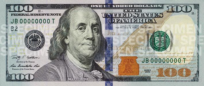 Новая стодолларовая купюра поступит в оборот 8 октября 2013 года (2 фото)