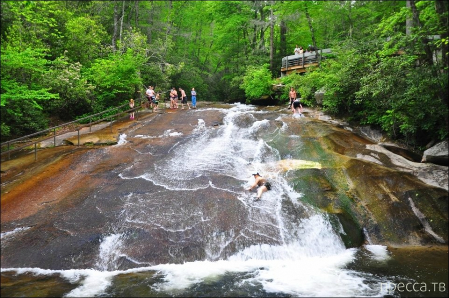 Необыкновенная природная водяная горка в Южной Каролине (7 фото)