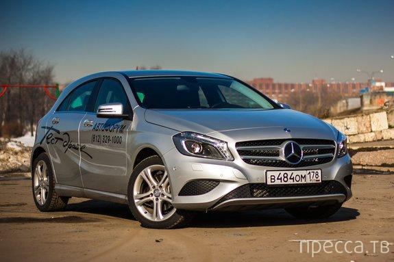 Тест-драйв Mercedes-Benz A180 (14 фото)