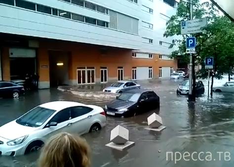 Потоп на улице Головатого в Краснодаре...