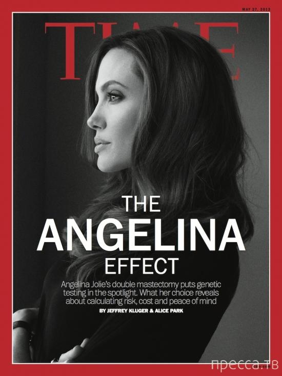 Операция по удалению молочных желез Анджелина Джоли вызвала взрыв негодования в Интернете (2 фото)