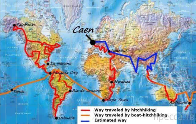 100 000 миль по всему миру автостопом... (16 фото)