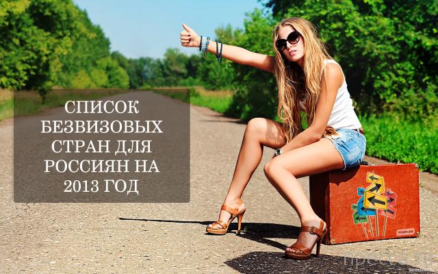 Страны безвизового или упрощённого въезда для россиян...