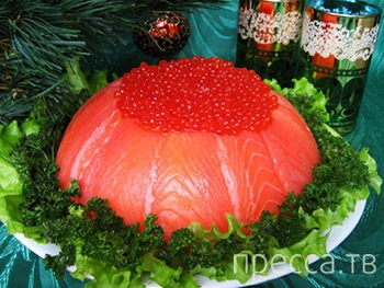 """Необыкновенная вкуснятина: Слоеный салат """"Рыбный торт""""  (6 фото)"""