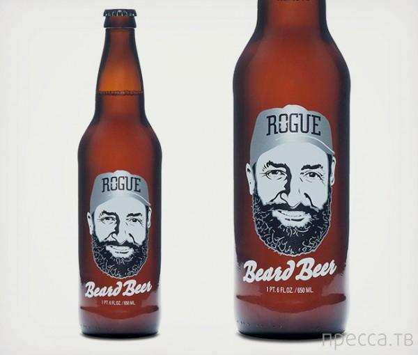 Пиво из бороды? Легко! (2 фото)