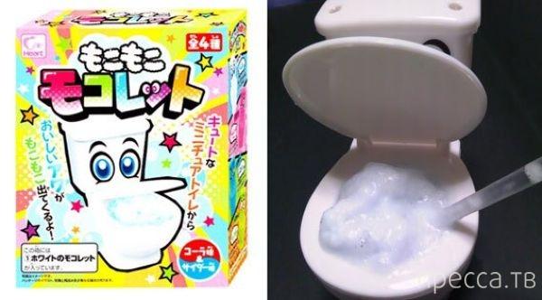 Японское утоление жажды из унитаза (7 фото)