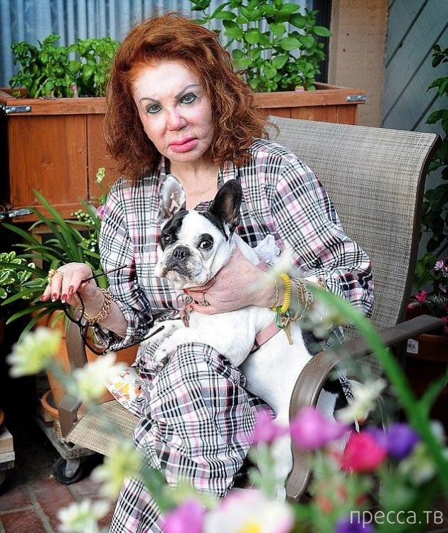 Мать Сильвестра Сталлоне жалеет о пластических операциях (4 фото)