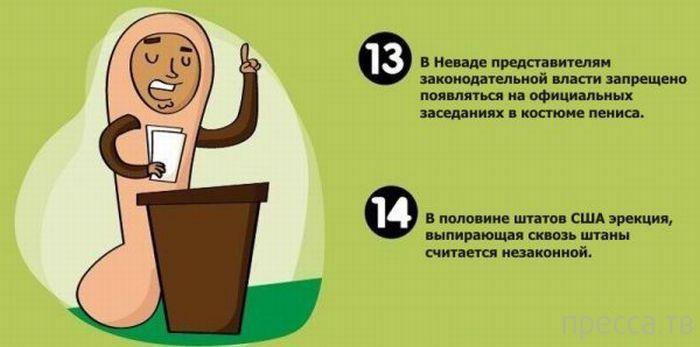 Топ 20: Странные законы о сексе со всего мира (8 фото)