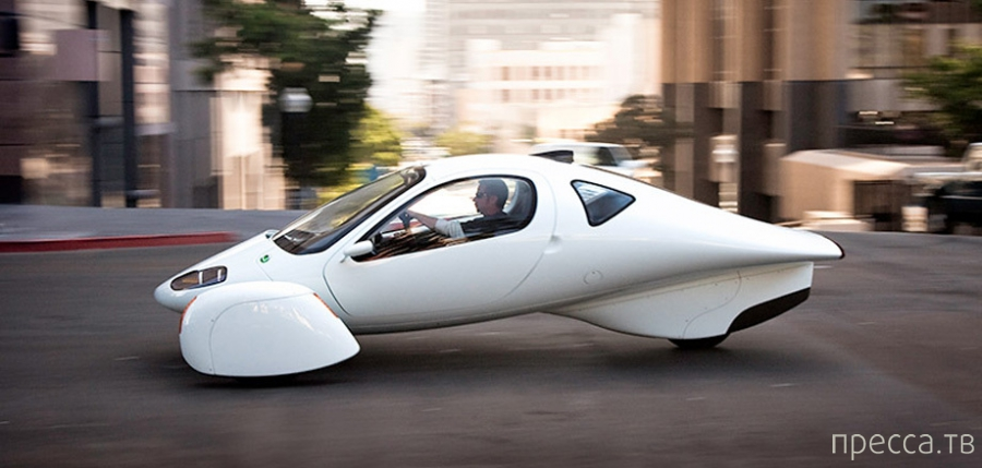 Aptera - сверхэкономичный двухместный автомобиль на 3-колесах (6 фото)