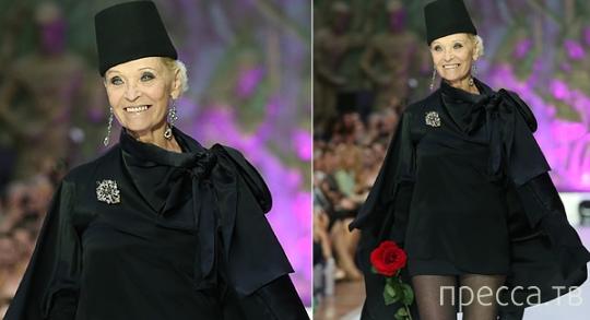 73-летняя Светлана Светличная вышла на подиум в мини (4 фото)