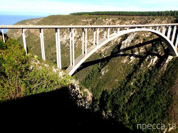 Самая большая в мире тарзанка (216 метров) - в ЮАР! (5 фото)