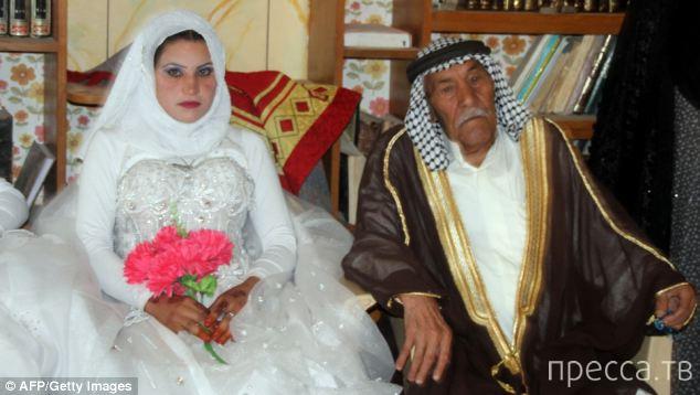 92-летний женился на 22-летней девушке (2 фото)