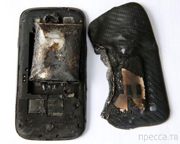 Смартфон взорвался в кармане (3 фото)
