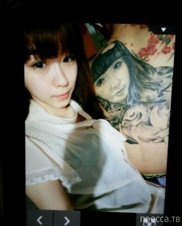 Доказательство любви: татуировка на всю спину (7 фото)