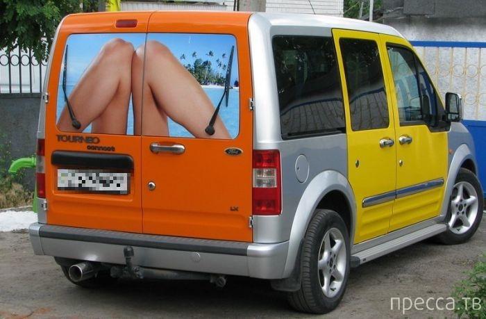 Креативный рисунок на микроавтобусе (4 фото)