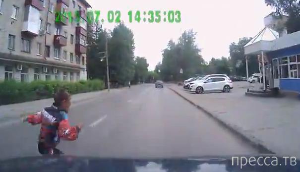 Мальчик выскочил из-за машины неожиданно... ДТП в Тюмени