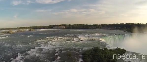 Ниагарский водопад с высоты птичьего полета (видео)