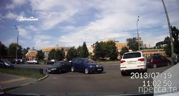 Ударился задом сам!!! ДТП в Москве...