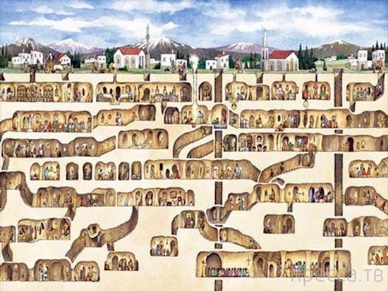Удивительные подземные города (10 фото)