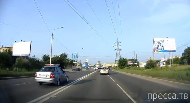 Полицейская погоня закончилась серьезным ДТП... ул. 60 лет Октября, Красноярск