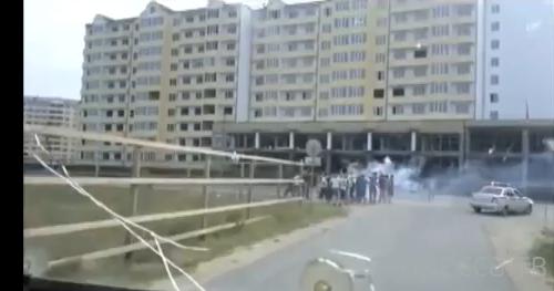 """Болельщики """"Анжи"""" атаковали автобус с фанатами """"Ростова"""""""