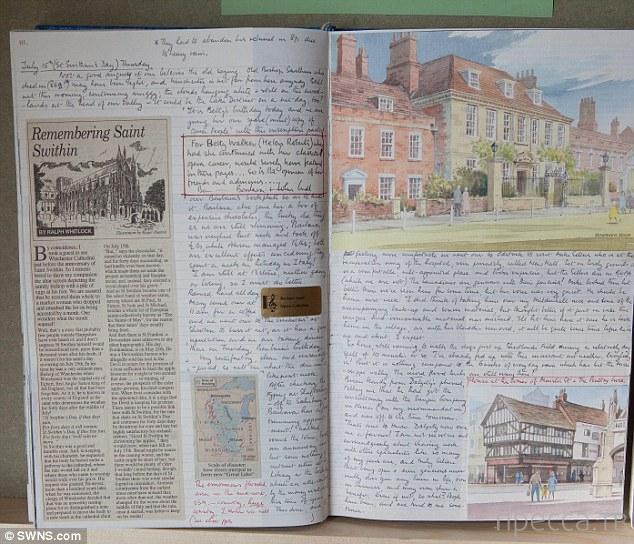 Британский пенсионер уже 66 лет ежедневно пишет дневник (12 фото)