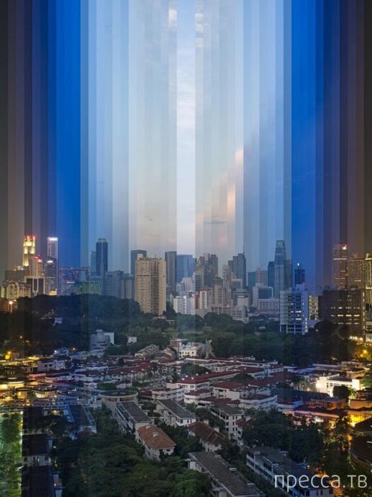 Сингапурский фотограф Фонг Ци Вэй запечатлел на одном фото 24 часа (13 фото)