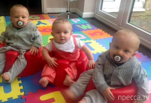Гамбургеры из 'Макдоналдса' помогли бесплодной женщине родить тройню (5 фото)