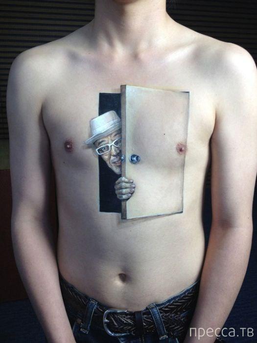 Очень необычные и реалистичные татуировки (31 фото)