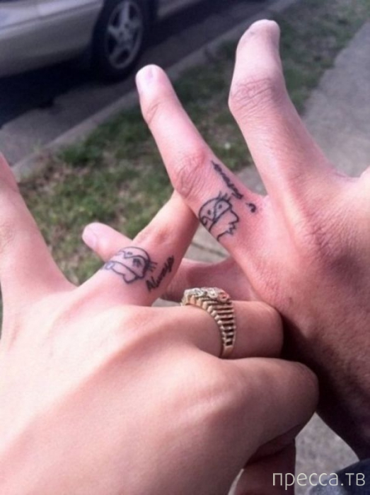 Татуировка вместо обручального кольца (29 фото)