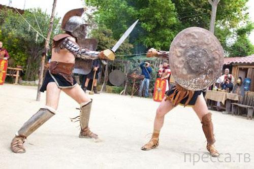 Единственная в мире школа гладиаторов (8 фото)