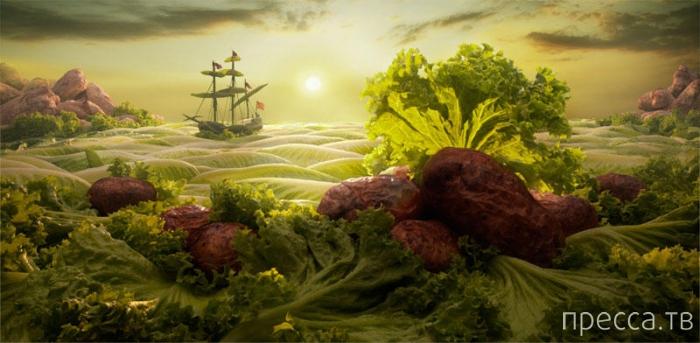Необыкновенные пейзажи из еды (16 фото)