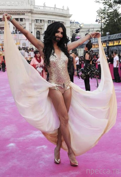 Трансвестит Кончита Вюрст будет представлять Австрию на Евровидении 2014 (9 фото)