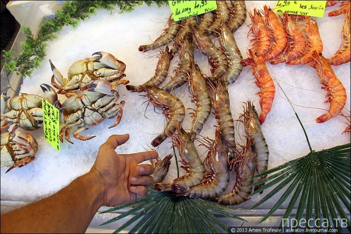 Прогулка по рыбному рынку Трувиля ... (35 фото)