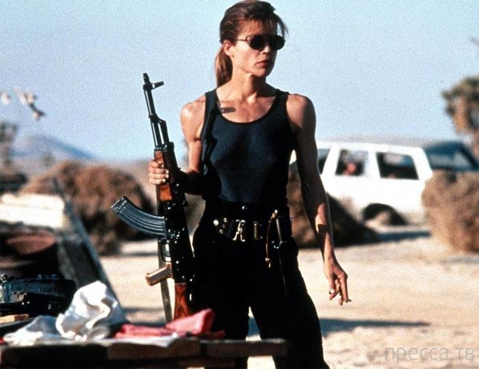 Голливудские красавицы и оружие (9 фото)