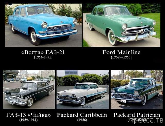Отечественный автопром и зарубежные машины (9 фото)