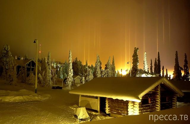 Световые столбы - интереснейшее природное явление ... (11 фото)