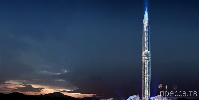 Первый в мире невидимый небоскреб ... (5 фото)