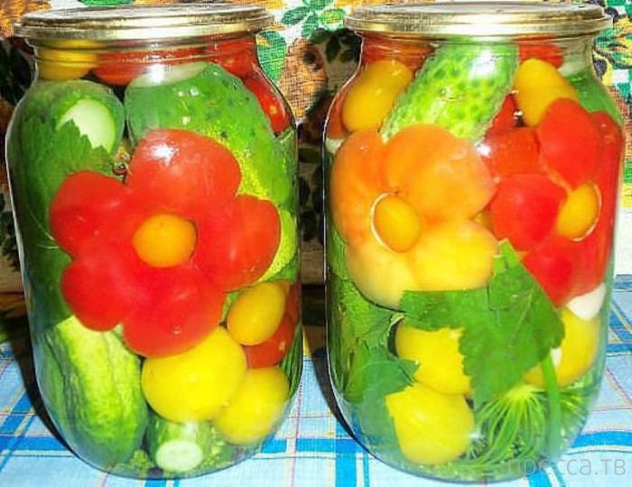 Креативный подход к закатке овощей (10 фото)