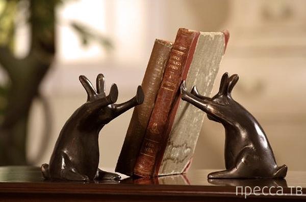 Самые оригинальные примеры дизайна подставок для книг (20 фото)