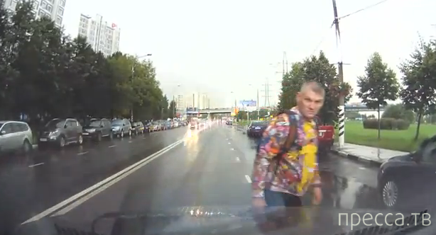 Неадекватный пешеход... Москва