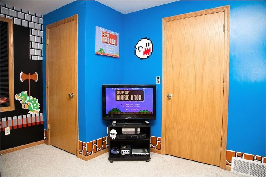 Комната в стиле Супер Марио (4 фото)