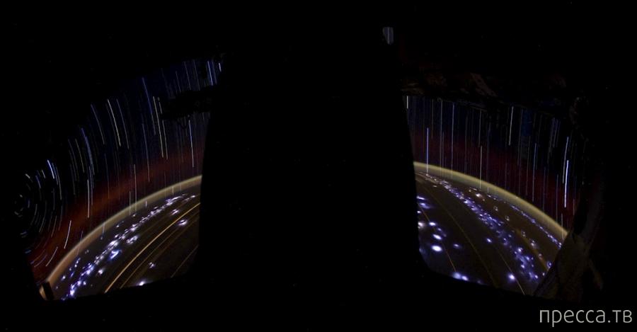 Звездные треки и планета Земля в фотографиях с МКС (8 фото)