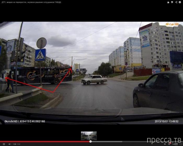 Спорное ДТП ... пересечение улиц Тархова и Чехова, г. Саратов